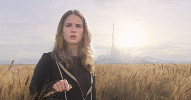 "Britt Robertson stars in a scene from the movie ""Tomorrowland."" (CNS photo/Disney)"