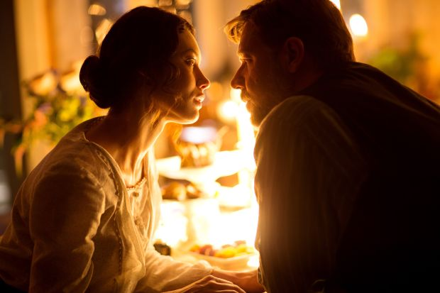 "Olga Kurylenko and Russell Crowe star in a scene from the movie ""The Water Diviner."" (CNS photo/Warner Bros.)"