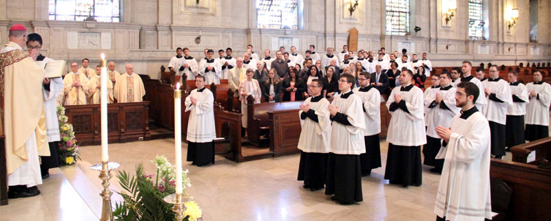 13 men were instituted in to the ministry of acolytes