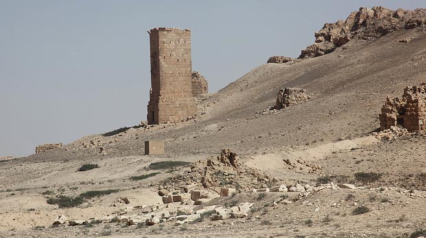 A general view of ancient graves is pictured in Palmyra, Syria, May 19. (CNS photo/Reuters)