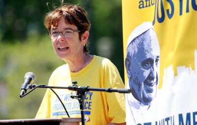 Sister Mary Scullion is chair of the Hunger and Homelessness Committee preparing for Pope Francis' visit to Philadelphia Sept. 26-27. (Sarah Webb)