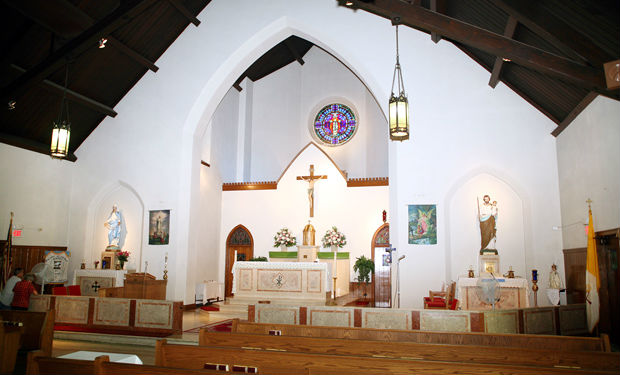 An interior view of Holy Saviour Church, Linwood.