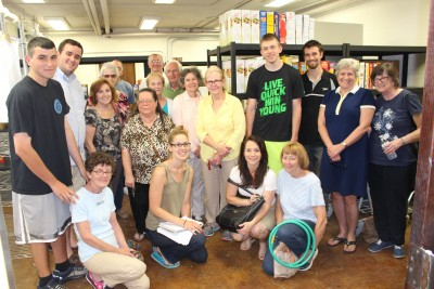 Core volunteers at the Catholic Social Services' food pantry in Norristown, Montgomery County, proudly pose in the newly renovated facility.