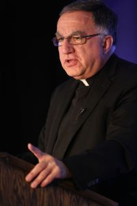 Basilian Father Thomas Rosica, CEO of Canada's Salt and Light Media Foundation, gives a keynote address June 26 during the Catholic Media Conference in Buffalo, N.Y. (CNS photo/Bob Roller)