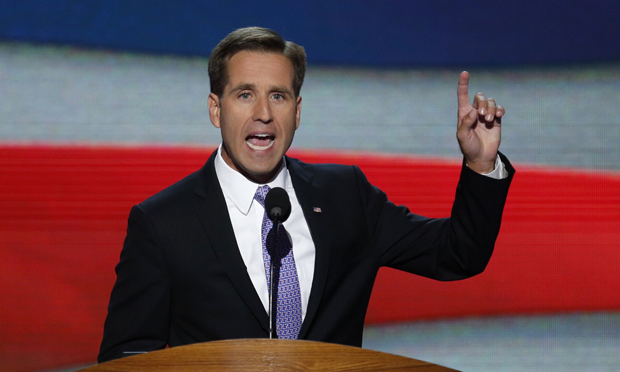 Former Delaware Attorney General Beau Biden is pictured in a 2012 photo. Biden, the son of Vice President Joe Biden, died of brain cancer May 30, less than two years after he was diagnosed with the disease. He was 46. He  (CNS photo/Jason Reed, Reuters)