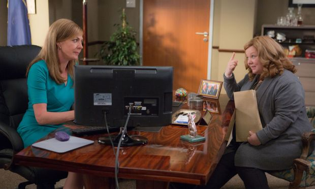 """Allison Janney and Melissa McCarthy star in a scene from the movie """"Spy.""""  (CNS photo/Fox)"""