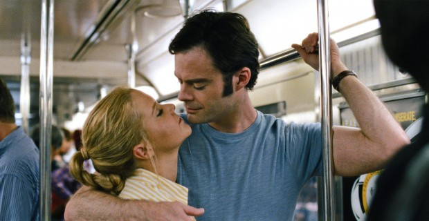 "Amy Schumer and Bill Hader star in a scene from the movie ""Trainwreck."" The Catholic News Service classification is O -- morally offensive. The Motion Picture Association of America rating is R -- restricted. Under 17 requires accompanying parent or adult guardian.(CNS photo/Universal)"