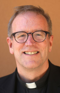 Father Robert Barron, 55, a native of Chicago who has served as rector of Mundelein Seminary and president of the University of St. Mary of the Lake, also in Mundelein, Ill., since 2012, is pictured in a July 20 photo. Pope Francis has named Father Barron an auxiliary bishop for the Archdiocese of Los Angeles. (CNS photo/J.D. Long-Garcia, The Tidings)