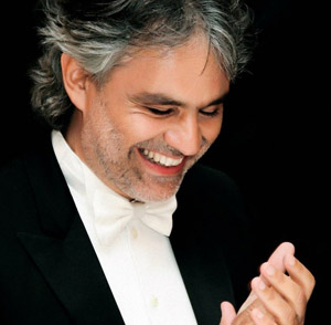 Italian singer Andrea Boccelli, a megastar with 70 million records sold, will sing at the Festival of Families.