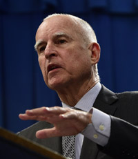 California Gov. Jerry Brown. (CNS photo/John G. Mabanglo, EPA)