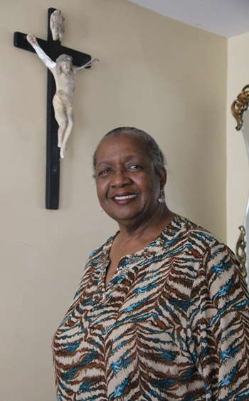 Sharonell Fulton, a member of St. Barbara Parish in Philadelphia, has cared for about 20 foster children in her Overbrook Farms home since 1992. (Sarah Webb)