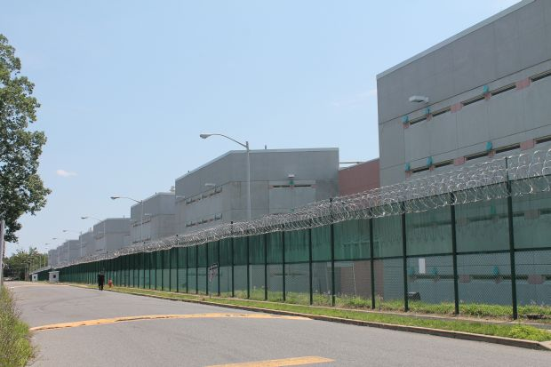 The imposing exterior of Curran-Fromhold Correctional Facility will welcome Pope Francis during a visit Sunday morning, Sept. 27. (Lou Baldwin)