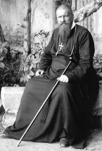 "Metropolitan Andrey Sheptytsky, who led the Ukrainian Catholic Church in the tumultuous period of both world wars and at the beginning of Soviet occupation, has been declared ""venerable"" by Pope Francis. Metropolitan Sheptytsky is pictured in an undated portrait. (CNS)"