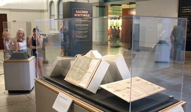 "The Penn Museum, in conjunction with the Penn Libraries, presents ""Sacred Writings: Extraordinary Texts of the Biblical World,"" a special exhibition of rare artifacts, rare books and manuscripts, through Nov. 7. (Photo by Penn Museum)"