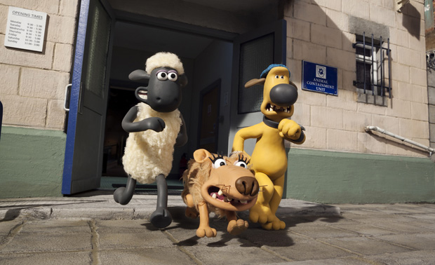 "Animated characters Shaun, Slip and Bitzer appear in ""Shaun the Sheep Movie."" (CNS photo/Lionsgate)"