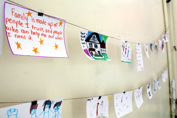 Parishioners who helped paint the mural also left notes of their experience, which were also strung and displayed at the St. Ignatius parish hall.