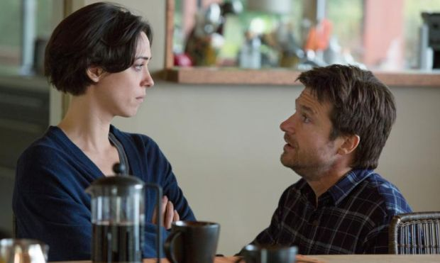 "Rebecca Hall and Jason Bateman star in a scene from the movie ""The Gift.""  (CNS photo/STX)"