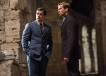 """Henry Cavill and Armie Hammer star in a scene from the movie """"The Man From U.N.C.L.E."""" (CNS photo/ Warner Bros.)"""