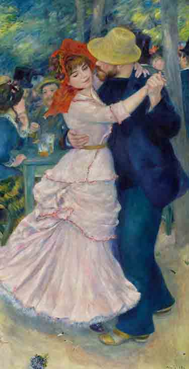 """Dance at Bougival,"" 1883 Pierre-Auguste Renoir, French, 1841–1919 -- on display in the exhibit ""Discovering the Impressionists: Paul Durand-Ruel and the New Painting"" at the Philadelphia Museum of Art (Philadelphia Museum of Art)"