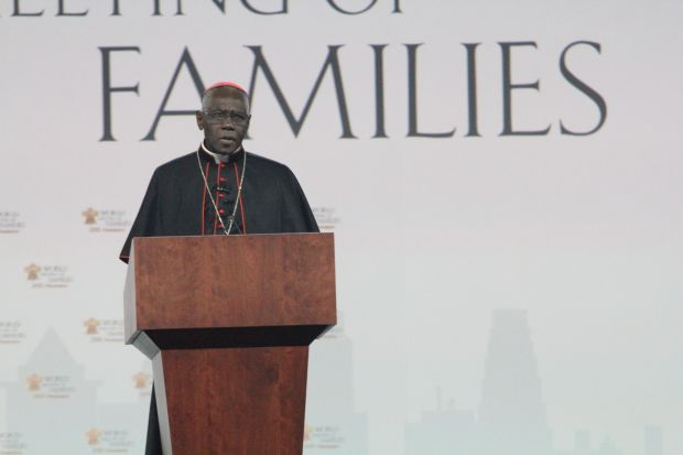Cardinal Sarah speaks to delegates at the World Meeting of Families Sept. 23 in Philadelphia (Sarah Webb)