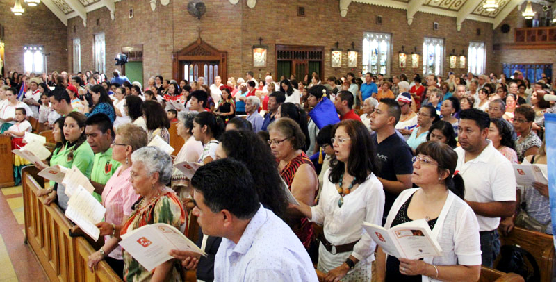 Hispanic Catholics in the Archdiocese of Philadelphia celebrated the 10th annual Hispanic Heritage Mass Aug. 19 at Holy Innocents Church, Philadelphia.