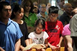 Olivia Romero with her children Abigail and Daniel Nolasco (Mexico)