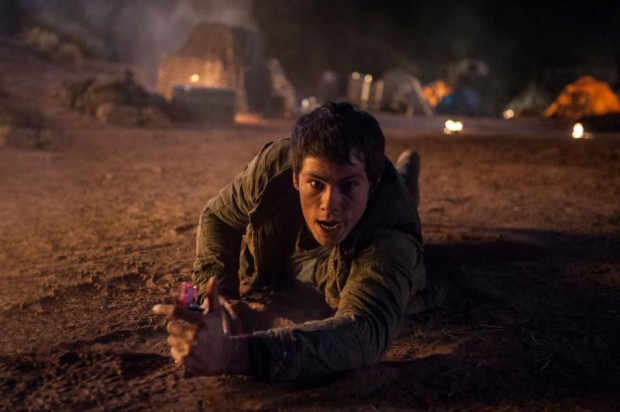 "Dylan O'Brien stars in a scene from the movie ""Maze Runner: The Scorch Trials."" (CNS photo/Fox)"
