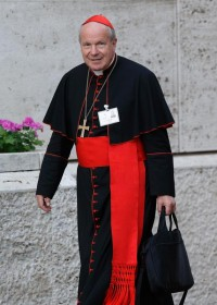 File photo of Austrian Cardinal Christoph Schonborn of Vienna arrives for the morning session of the extraordinary Synod of Bishops on the family at the Vatican Oct. 16, 2014.