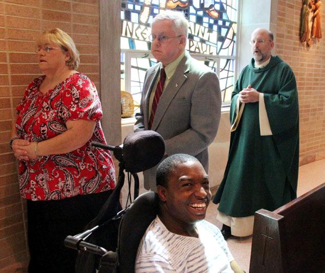 lectors Teresa Maisano Joe Harper and Fr Hallinan