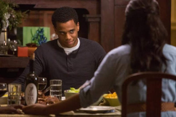"Michael Ealy and Sanaa Lathan star in a scene from the movie ""The Perfect Guy.""  (CNS photo/Sony)"