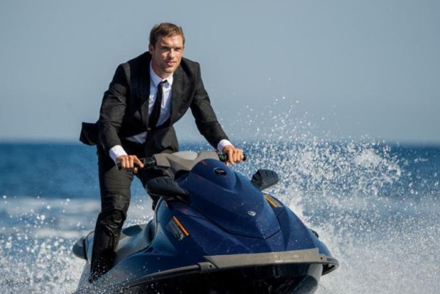 "Ed Skrein stars in a scene from the movie   ""The Transporter Refueled."" (CNS photo/Europa)"