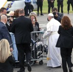 Pope Francis Airport Arrival in Philadelphia. Photo by Kevin Cook.