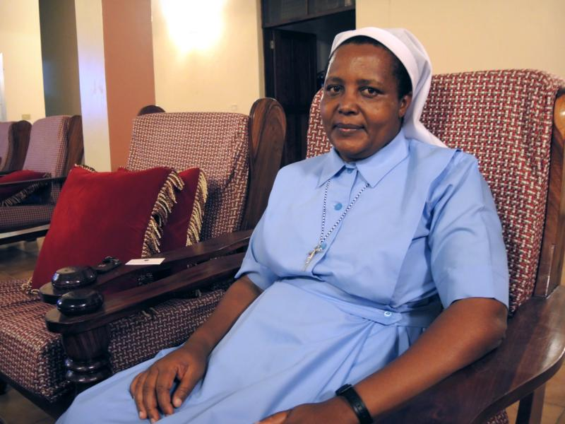 Sister Yusta Tesha poses for a photo at the Tanzania Episcopal Conference headquarters in Dar es Salaam Aug. 18. (CNS photo/Melanie Lidman, GSR)