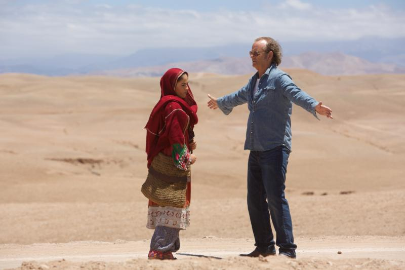"Leem Lubany and Bill Murray star in a scene from the movie ""Rock the Kasbah."" (CNS photo/Open Road Films)"