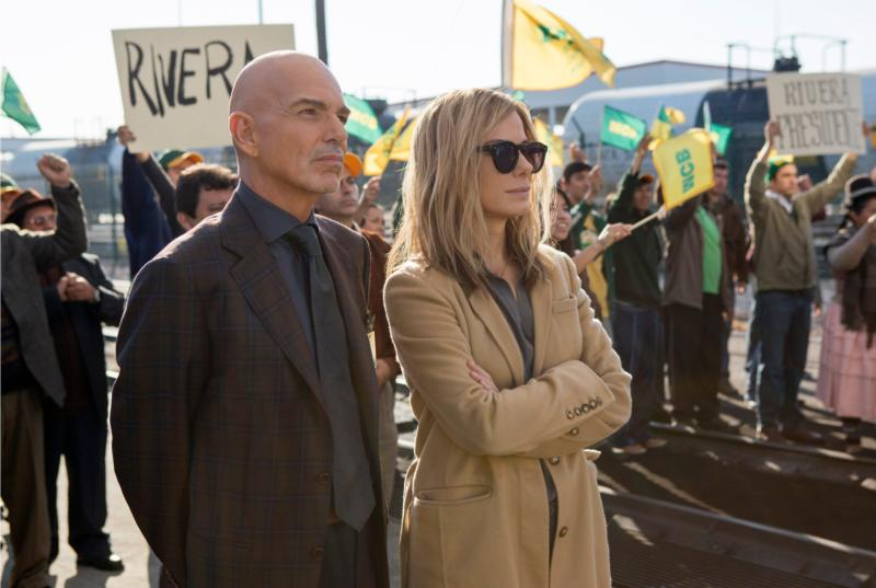 "Billy Bob Thornton and Sandra Bullock star in a scene from the movie ""Our Brand Is Crisis."" (CNS photo/Warner Bros.)"