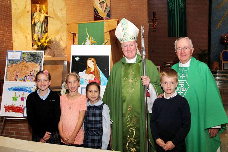 Julia Thomson, Andrea Verch, Maria del Mar Zuniga-Stanton, Bishop Michael Fitzgerald, Andrew Huff, Msgr. Authur Rodgers