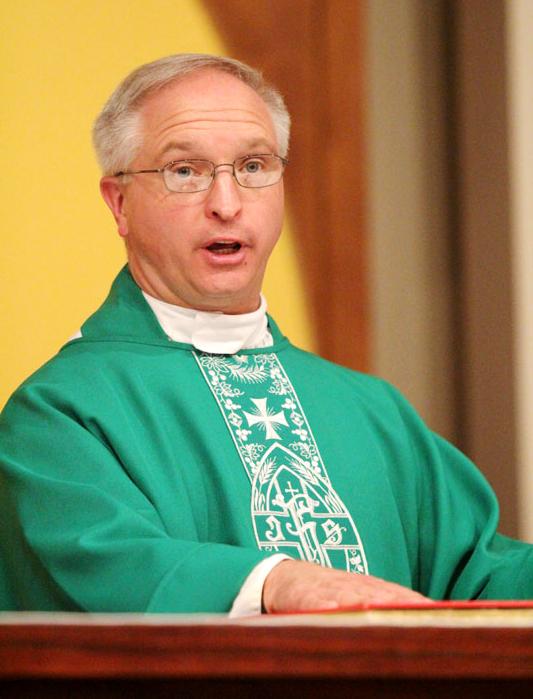 Fr Davis pledges his oathe and fidelity