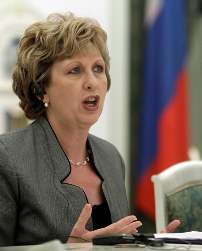 Former Irish President Mary McAleese is pictured in a 2010 photo. (CNS photo/Sergey Ponomarev, pool via EPA)
