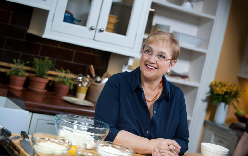 "Chef Lidia Bastianich, pictured in an undated photo, is on her fifth public television cooking series, ""Lidia's Kitchen,"" and on Dec. 11 will have a Christmas special on PBS. She's also written 13 books, most of them cookbooks, has a line of commercial cookware, separate lines of sauces and made-in-Italy pastas, and a string of restaurants in New York City, Chicago, Kansas City, Missouri, and even Brazil. (CNS photo/Roslan & Campion Public Relations)"