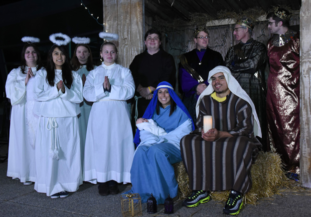 Neumann University students, faculty and staff will stage a Live Nativity on Dec. 6.