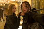 "Natalie Dormer and Jennifer Lawrence star in a scene from the movie ""The Hunger Games: Mockingjay, Part 2."" (CNS photo/Lionsgate)"