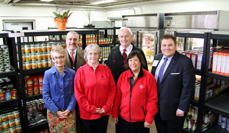 Members of the Order of Malta contributed a grant that led to the new marketplace style of the food cupboard.