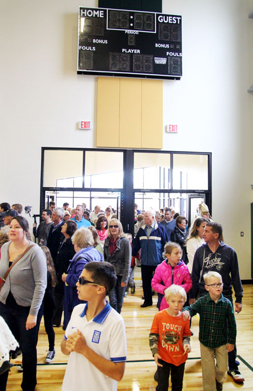 The doors of the new gym are opened for all to tour.