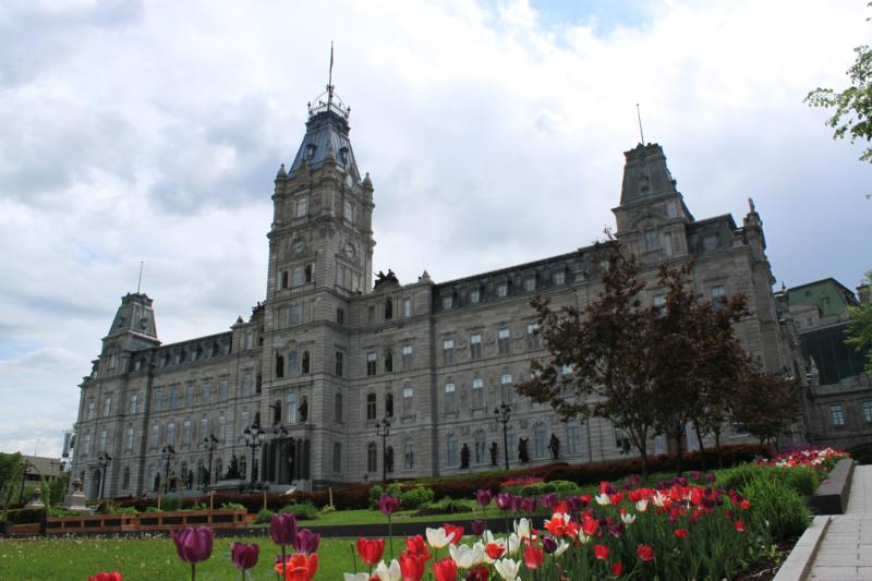 The Quebec Parliament is pictured in Quebec City in 2014. As Quebec's new end-of-life care law will come into effect in December, a first palliative care facility announced that it will be offering medically-induced death. (CNS photo/Philippe Vaillancourt, Presence)