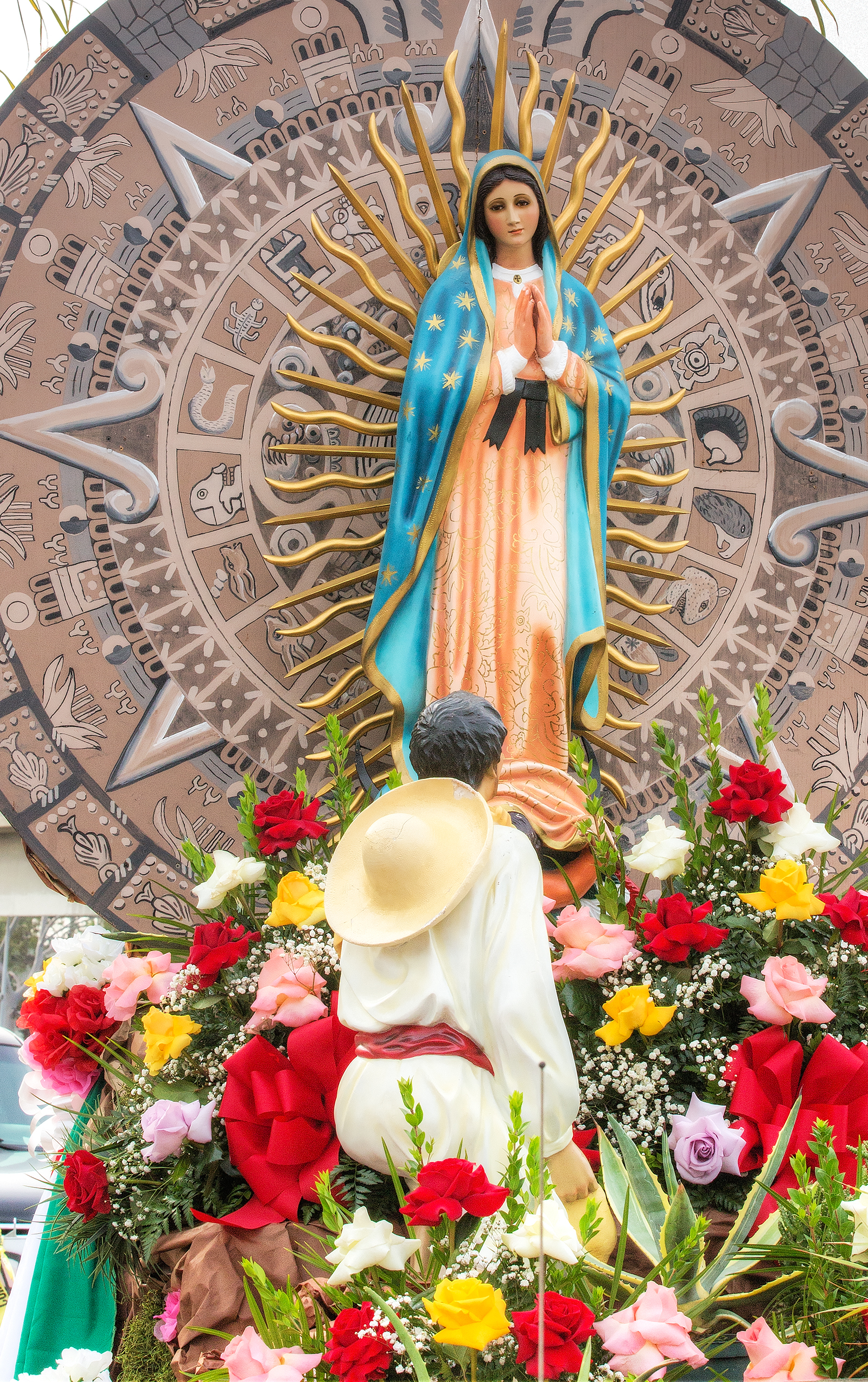 a statue of our lady of guadalupe is pictured in 2014 in los angeles our