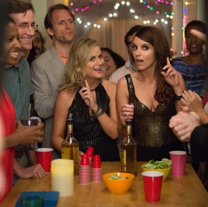 "Amy Poehler and Tina Fey star in the movie ""Sisters."" The Catholic News Service classification is O -- morally offensive. The Motion Picture Association of America rating is R -- restricted. Under 17 requires accompanying parent or adult guardian. (CNS photo/Universal Studios) See MOVIE-REVIEW-SISTERS-(EMBARGOED) Dec. 16, 2015."