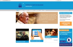 "An online course about science and religion is now available in English from the Theological Faculty of Catalonia in Barcelona, Spain. The course, ""Science and Faith in Dialogue,"" will be available starting Feb. 9, 2016. This is a screen capture of the course website. (CNS)"
