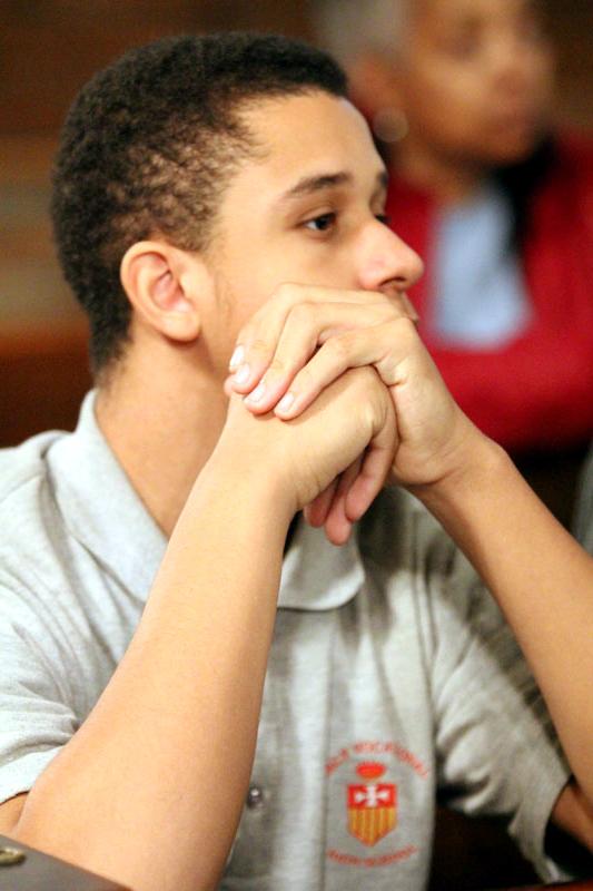 10th grader Isaiah Sanders
