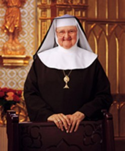Mother Angelica, who founded the Eternal Word Television Network, has been placed on a feeding tube as she continues to battle lingering effects of two strokes she suffered 14 years ago. She is pictured in an undated photo. (CNS photo/courtesy EWTN)