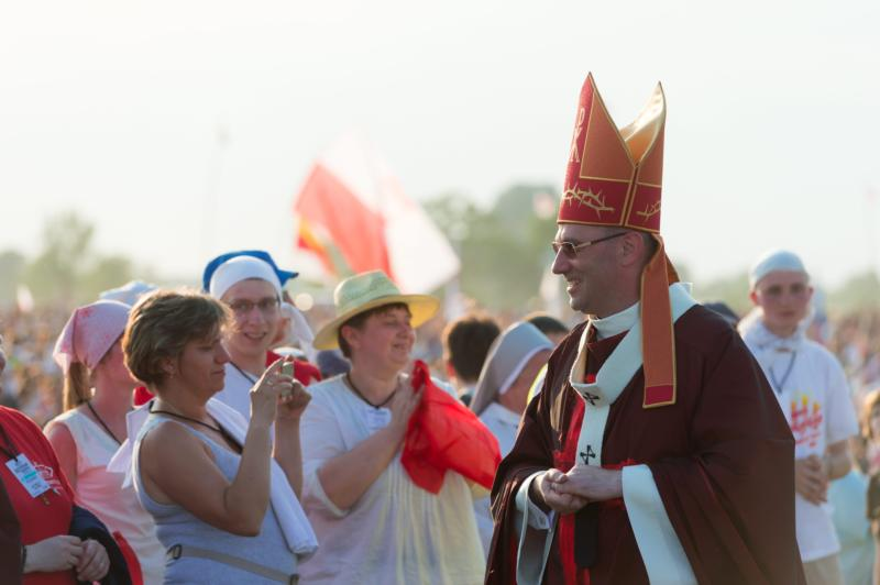 Archbishop Wojciech Polak of Gniezno, Poland, attends a youth meeting in early June in Lednica, Poland. (CNS photo/Jakub Kaczmarczyk, EPA)